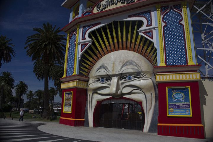 Foto: Eli Zubiria. Luna Park, en el barrio de Saint Kilda, en Melbourne, Australia