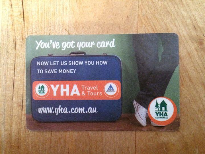 Tarjeta de YHA, de Australia