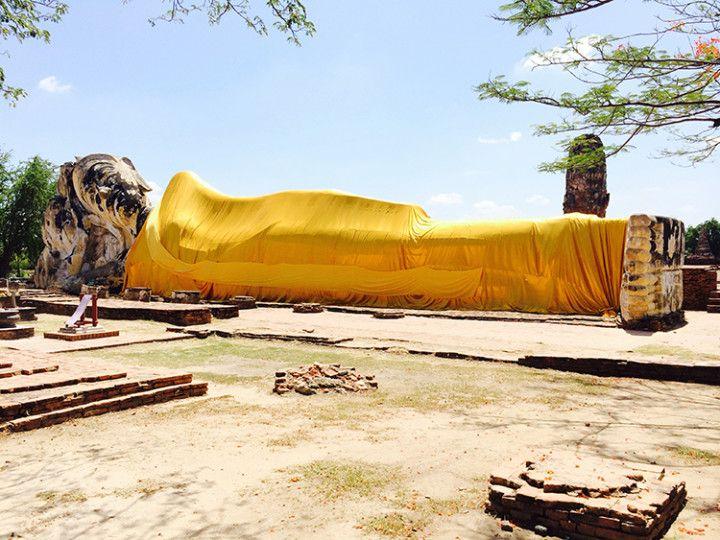 Foto: Eli Zubiria: Buda tumbado o Phra Noon, en Tailandia.