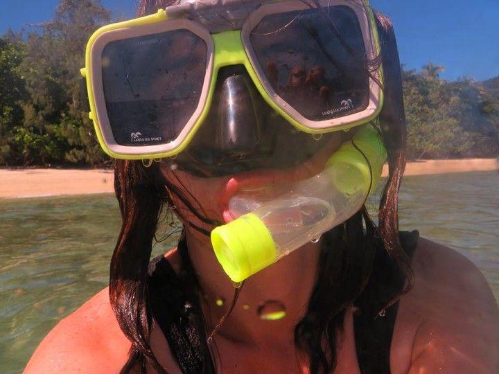 Buceando en la Gran Barrera de Coral en Australi