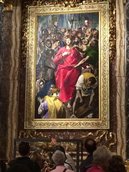 Foto. Eli Zubiria. El Expolio, de El Greco, en la catedral de Toledo, en España