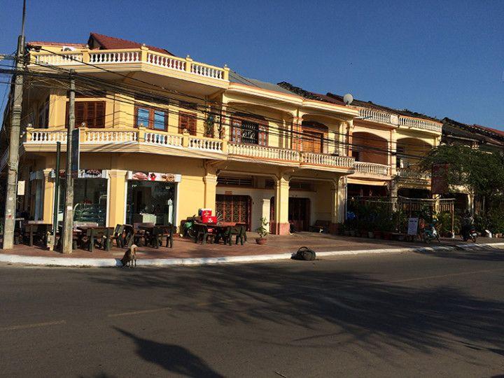 Foto: Eli Zubiria. Casas de estilo colonial en Kampot