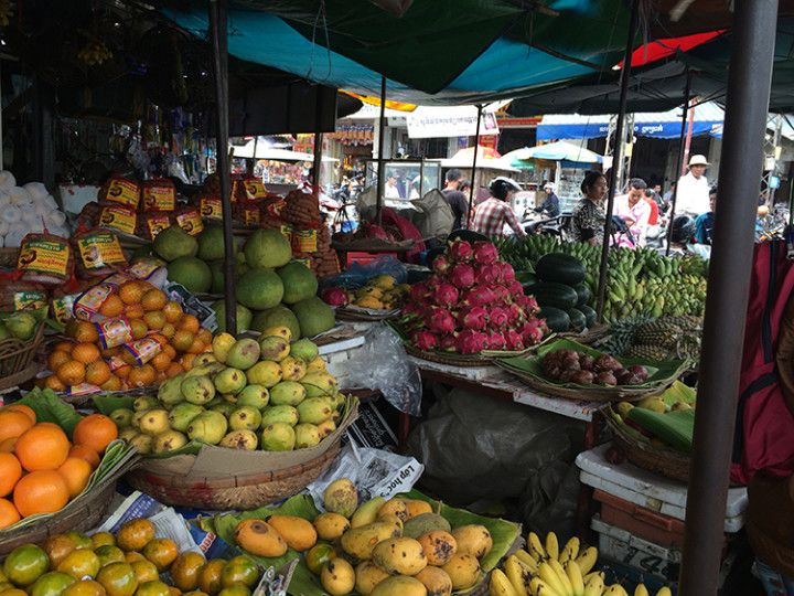 Foto:Eli Zubiria. Mercado de Kandal en Phnom Pehn, Camboya