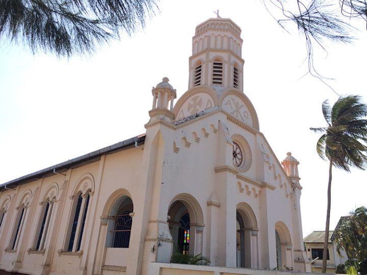 Foto: Eli Zubiria. Iglesia católica en Savannakhet, Laos