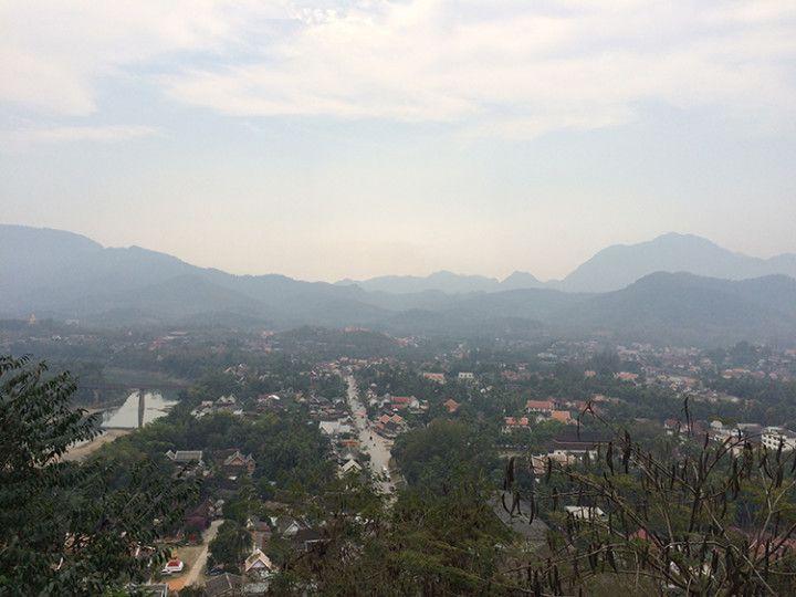 Foto: Eli Zubiria. Vista desde el templo de Phou Si, en Luang Prabang, Laos
