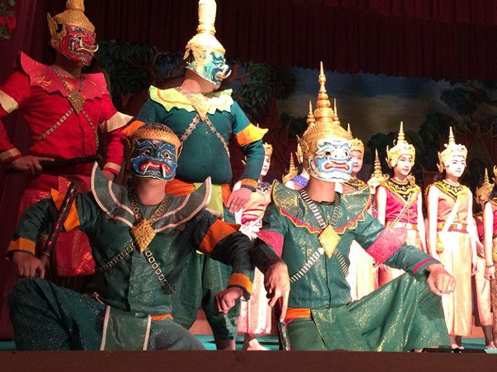 Foto: Eli Zubiria.Teatro tradicional laosiano,e n Luang Prabang, Laos