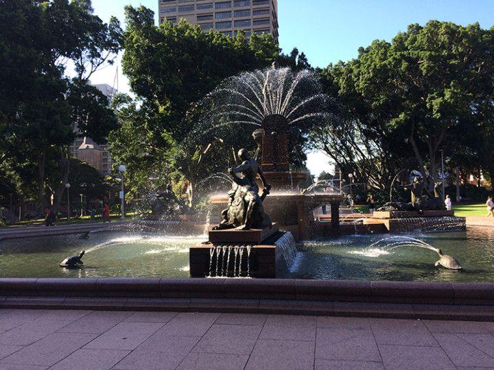 Foto: Eli Zubiria.La fuente de Hyde Park en Sydney, Australia