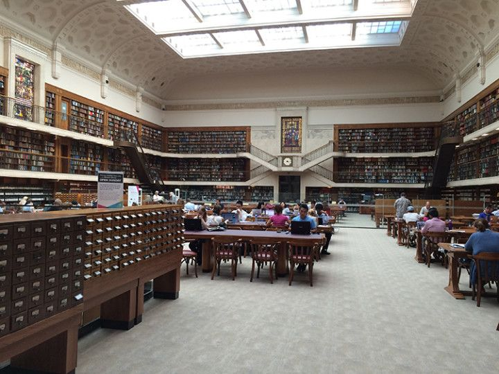Foto: Eli Zubiria. Sala de estudio del National Library of Australia.