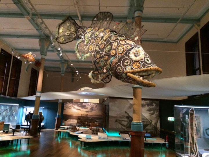 Exposición aborigen del Museo de Australia, en Sydney.
