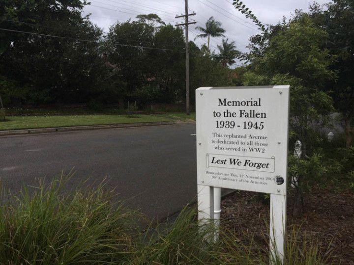 En recuerdo de los australianos caídos en combate durante la Segunda Guerra Mundial.