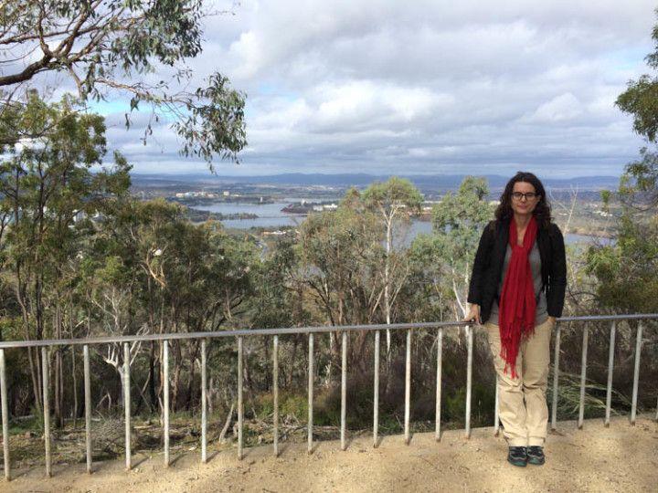 Foto: Eli Zubiria. Blackmountain es uno de los puntos para ver la Canberra desde las alturas.