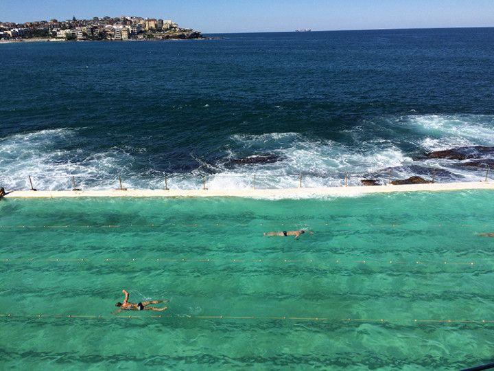 Foto:Eli Zubiria. Playa de Bondi, en Sydney Australia