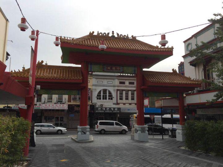 Foto: Eli Zubiria. Puerta del Chinatown de Brisbane, en Asutralia.