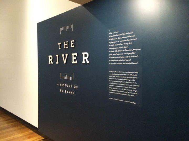 Foto:Eli Zubiria. Exposición del río de Brisbane en su ayuntamiento.