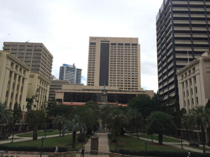 Foto:Eli Zubiria. Plaza de la Oficina de Correos de Brisbane, en Australia.