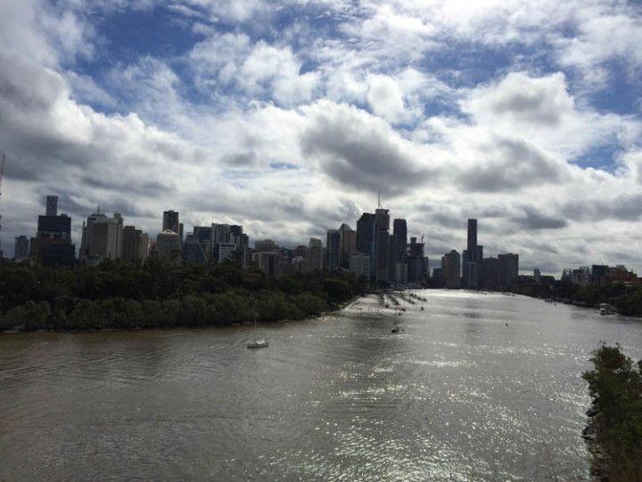 Foto:Eli Zubiria. Vistas de la ciudad de Brisbane desde el Riverside terrace.