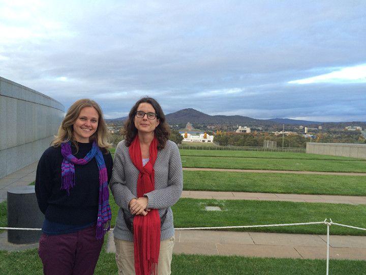 Con Jess en Canberra