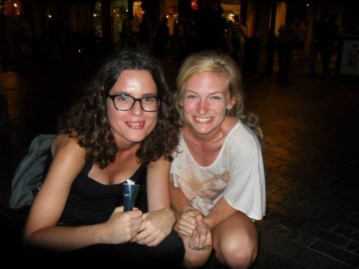 Con Diana en San Sebastián.
