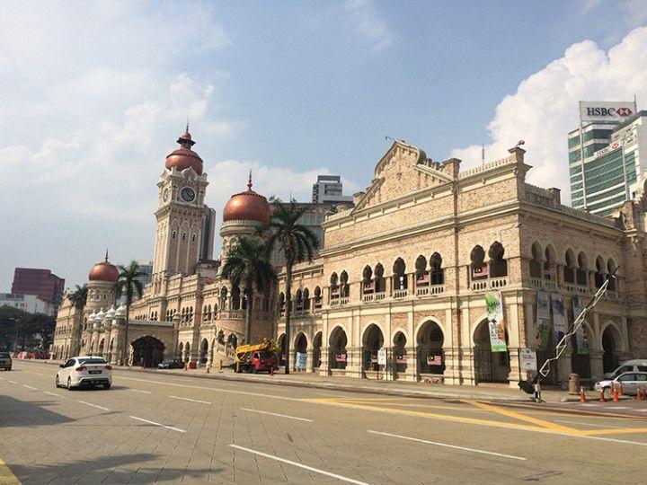 Foto: Eli Zubiria. Edificio de Sultan Abdul Samad, en Kuala Lumpur, Malasia.