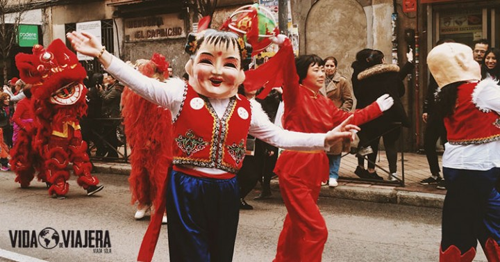 Año nuevo chino en Usera, Madrid